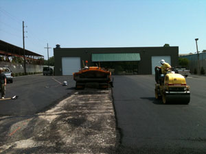 Paving a Parking Lot During 1